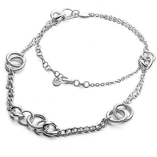 43fe910479c5 Collar para Mujer de acero con camiseta trenzada. Longitud del joya y  de 85