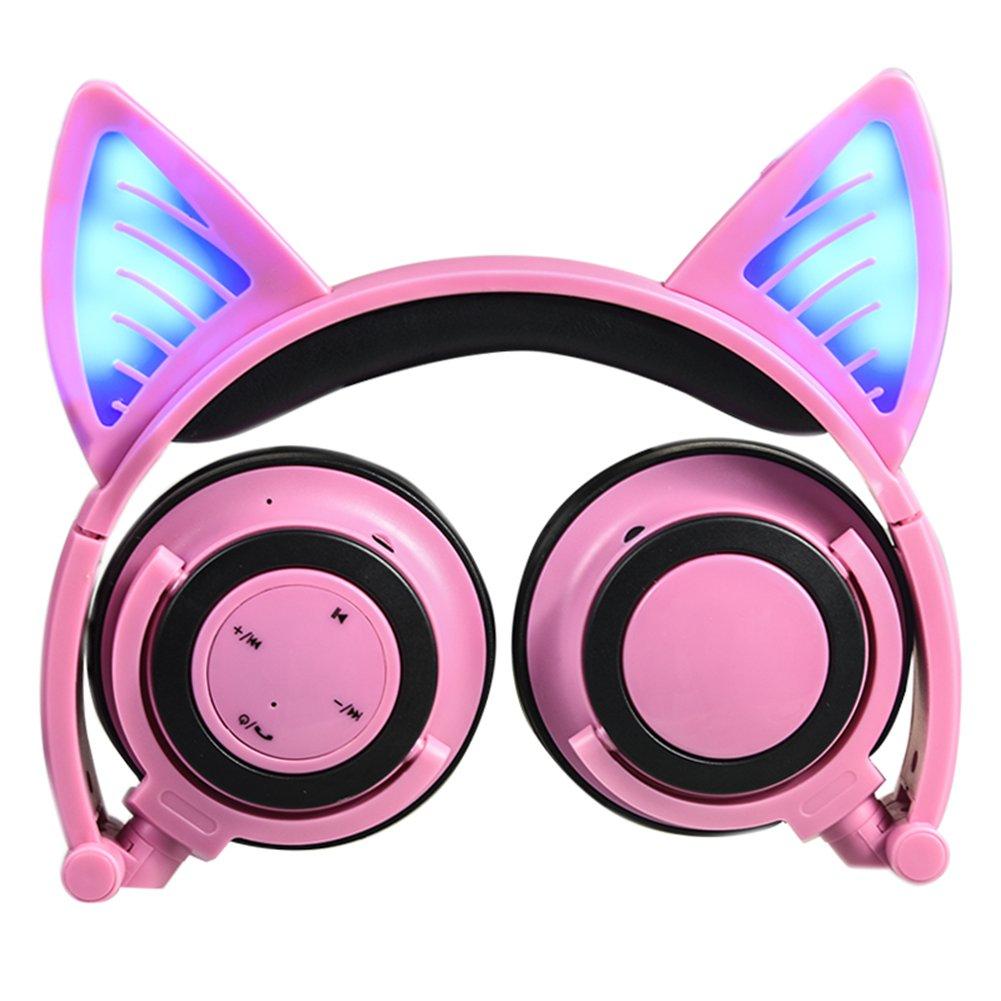 Garyesh Kabellos Bluetooth Headset Katze Ohr Kopfhörer Faltbare Soft ...