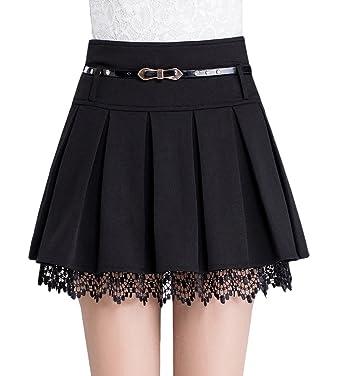 Tanming Women's A-Line Plaid Skirt Side Zipper at Amazon Women's ...