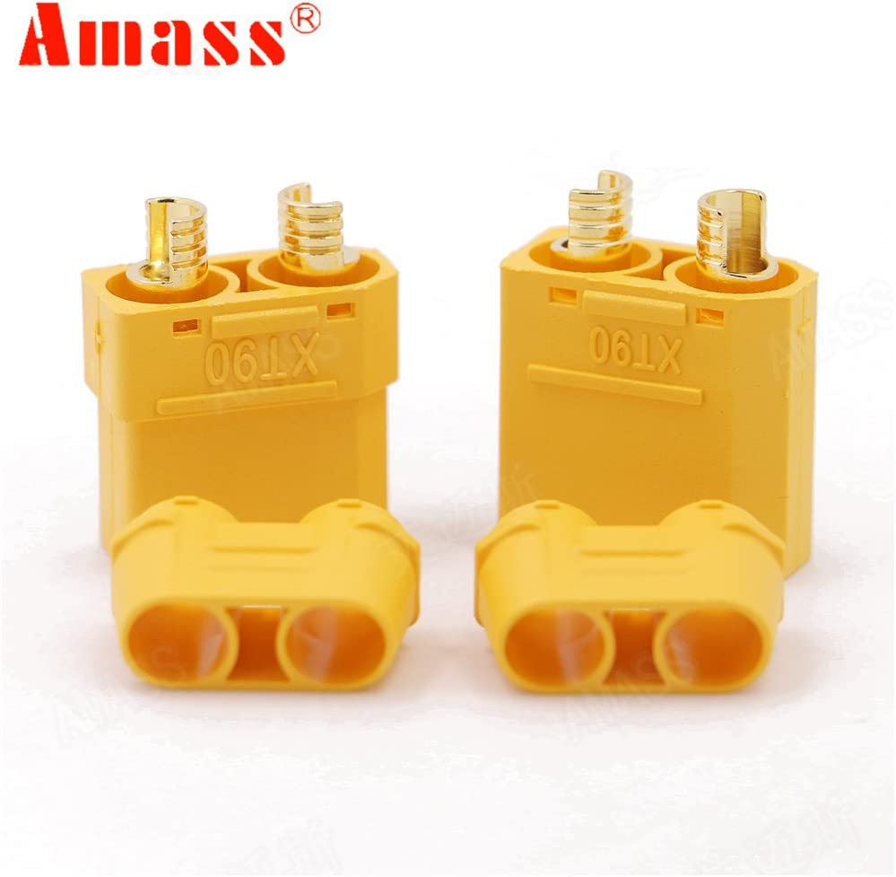 Yoton Accessories Register Shipping 50Pairs//lot XT90 Plug Connectors Male Female for RC Model Battery
