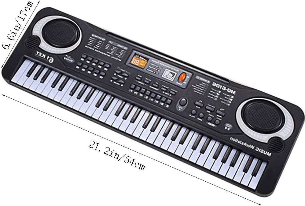 LSS Teclado eléctrico 61 Teclas, Piano Musical portátil, con ...