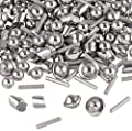 "1 Lb 1/8"" Stainless Steel Tumbling Media Shot Jewelers Mix 4 Shapes Tumbler Finishing"