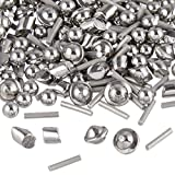 "BC Precision 1LBMIX2 1 Lb 1/8"" Stainless Steel Tumbling Media Shot Jewelers Mix 4 Shapes Tumbler Finishing"