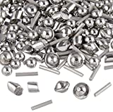 1 Lb 1/8'' Stainless Steel Tumbling Media Shot Jewelers Mix 4 Shapes Tumbler Finishing