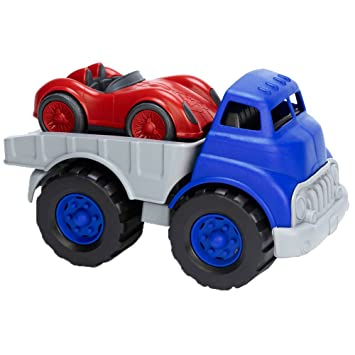 Amazon Com Green Toys Flat Bed Truck Race Car Toys Games