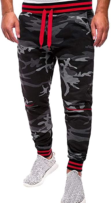 Damen Camouflage Freizeithose Sporthose Sommerhose Fitnesshose Gym Jogginghose