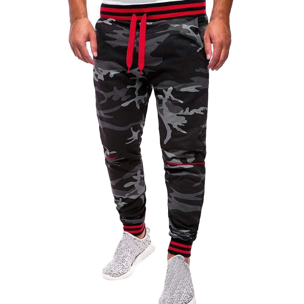 Pantaloni Sportivi Uomo, ABCone Autunno Comouflage Classic Camo Pantaloni Tasche dei Pantaloni Felpati da Uomo Jogging Leggings Pantaloni della Tuta per Uomini con Tasche M-4XL Poliestere