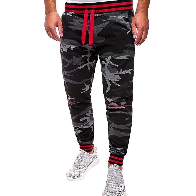 Pantalón De Camuflaje Clásico De Otoño para Hombre Pantalones Bolsillos Pantalones  De Chándal Elegantes Piratas Parkour Push Up Elasticos Tallas Grandes ... bf996a280f9
