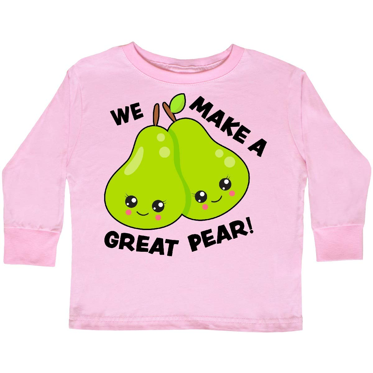inktastic We Make a Great Pear Valentine Toddler Long Sleeve T-Shirt
