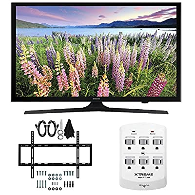 Samsung UN40J5200 - 40-inch Full HD 1080p Smart LED HDTV Slim Flat Wall Mount Bundle includes UN40J5200 40-Inch 1080p TV, Slim Flat Wall Mount Bundle and 6 Outlet Wall Tap w/ 2 USB Ports