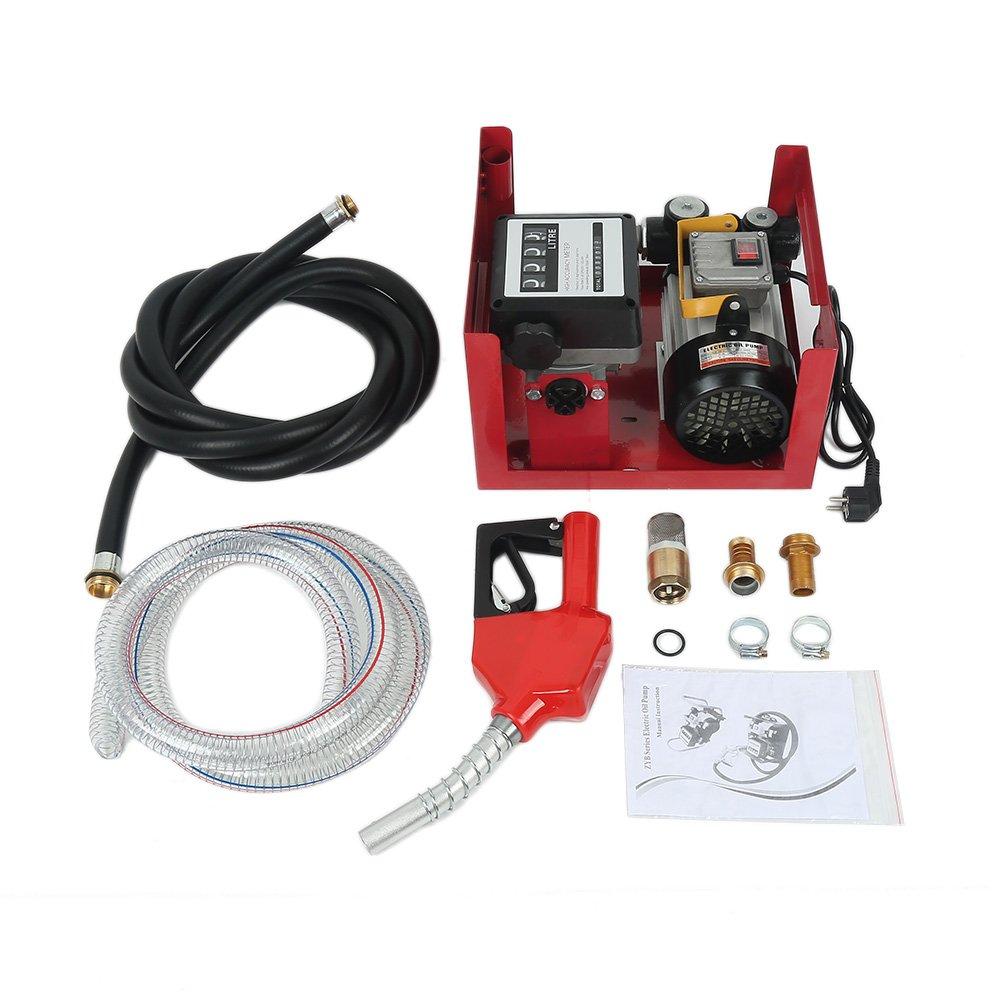 POPSPARK Pompa di alimentazione diesel 60 l/min pompa di alimentazione pompa di aspirazione olio autoadescante 230V / 550W