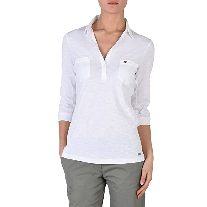 Napapijri Emy Polo, Blanco (Bright White), XX-Large para Mujer ...