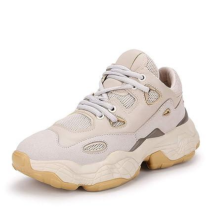 79cf63eccf56 Amazon.com: YXB Women's Casual Shoes 2019 New Platform Shoes Leather ...