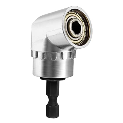 Qibaok 105 °Extensión ángulo de 1/4 de pulgada de 6 mm hexagonal Broca de destornillador de socket adaptador de portabrocas