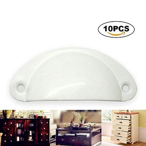 10Pcs Vintage Door Knobs Cabinet Drawer Cupboard Furniture Kitchen Pull HandleLY