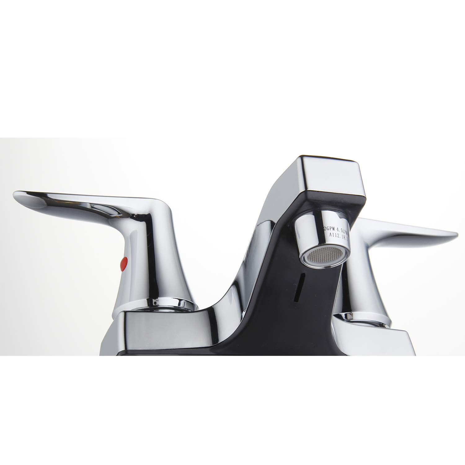 Innova PF6020-CH-WP Rhondonite Two Handle Non-Metallic Bathroom Faucet with Easy Install QuickNut and ClogFREE PopUp Drain Chrome