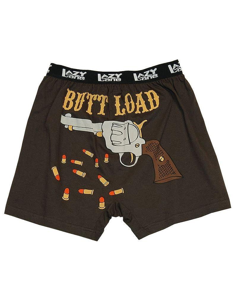 Lazy One B530 Men's Butt Load Brown Cotton Loose Boxers LazyOne B530L-$P