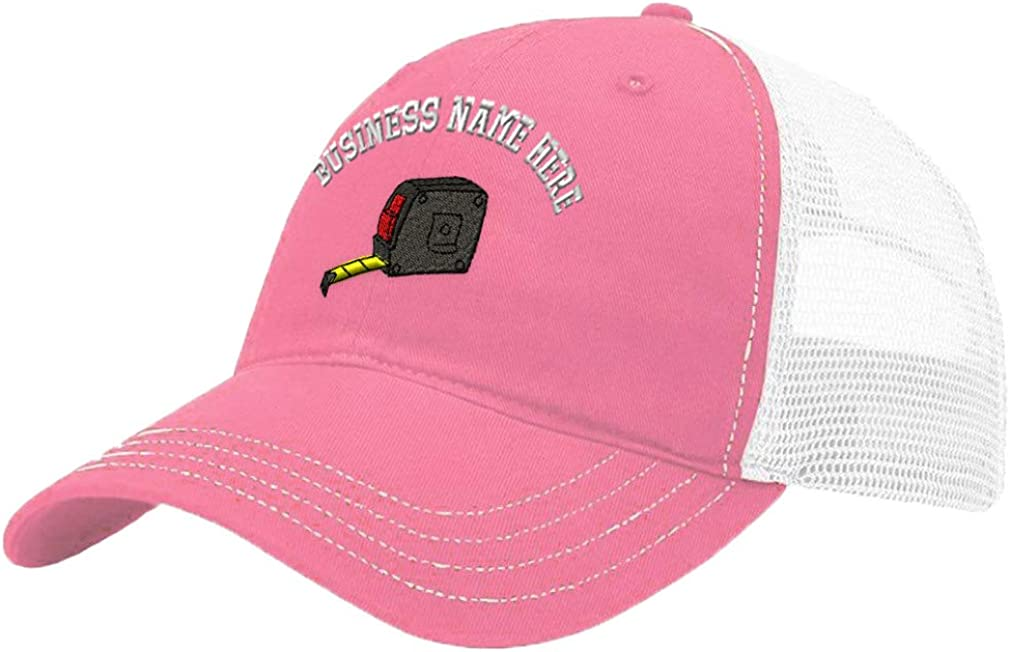 Custom Trucker Hat Richardson Tape Measure Embroidery Business Name Cotton Snaps