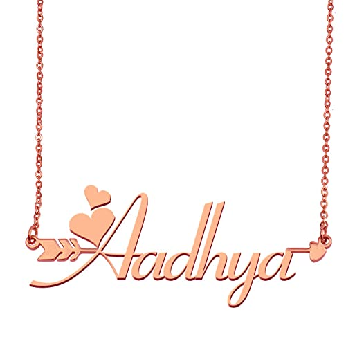 Aoloshow Customized Custom Name Necklace Personalized - Custom Aadhya  Initial Plated Handwriting Nameplate Necklace Gift for 8b87e4348