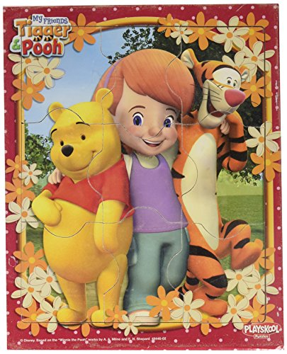 Disney My Friends Tigger & Pooh Educational Preschool Puzzle ~ Hugs (Featuring Pooh, Tigger, and Christopher) -