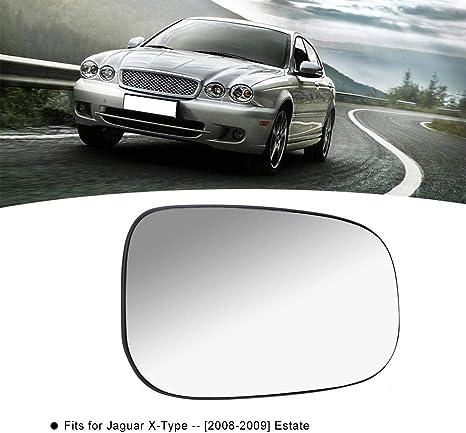 Rouku Vetro retrovisore X-Type per specchietto retrovisore Lato Destro per Jaguar XF XJ Xk XE Vetro specchietto retrovisore riscaldato 3001-893 Medio