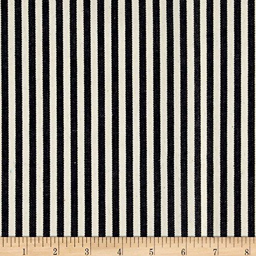 Kaufman Railroad Denim Ticking Stripe Fabric By The Yard (Denim Stripe Fabric)