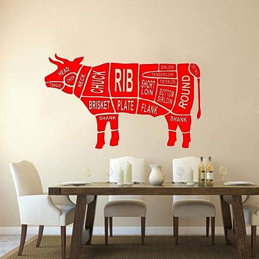 xingbuxin Cortes de Vaca Diseño Vinilo Tatuajes de Pared Cocina ...