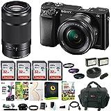 Sony Alpha a6000 Mirrorless Camera w/16-50mm & 55-210mm Lens & Four 32GB SD Card Bundle
