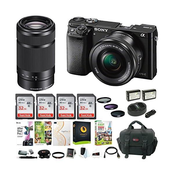 61uKoGZ3Y1L. SS600  - Sony Alpha a6000 Mirrorless Camera w/ 16-50mm & 55-210mm Lens & Four 32GB SD Card Bundle