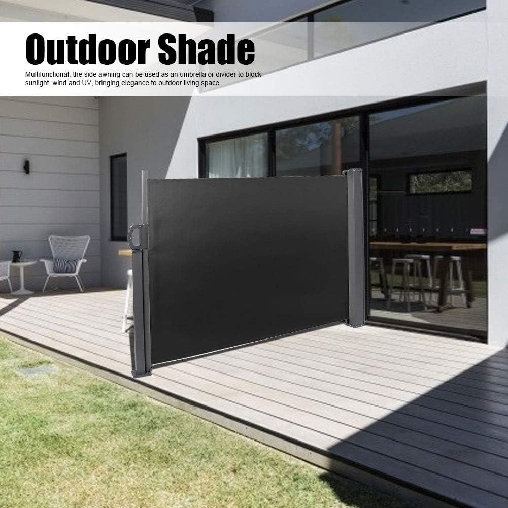 Einziehbar gestaltet 160 x 300 cm f/ür Balkon Beige Estink Seitenmarkise Terrasse Garten wasserdichte Sonnenschutz-Windschutz-Balkonmarkise