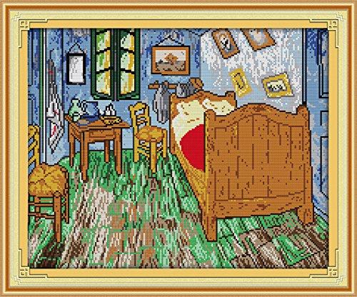(Happy Forever Cross Stitch Scenery, Van Gogh's bedroom)