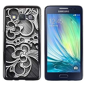 TopCaseStore / la caja del caucho duro de la cubierta de protección de la piel - Wallpaper Pattern Floral Design Art Decoration - Samsung Galaxy A3 SM-A300