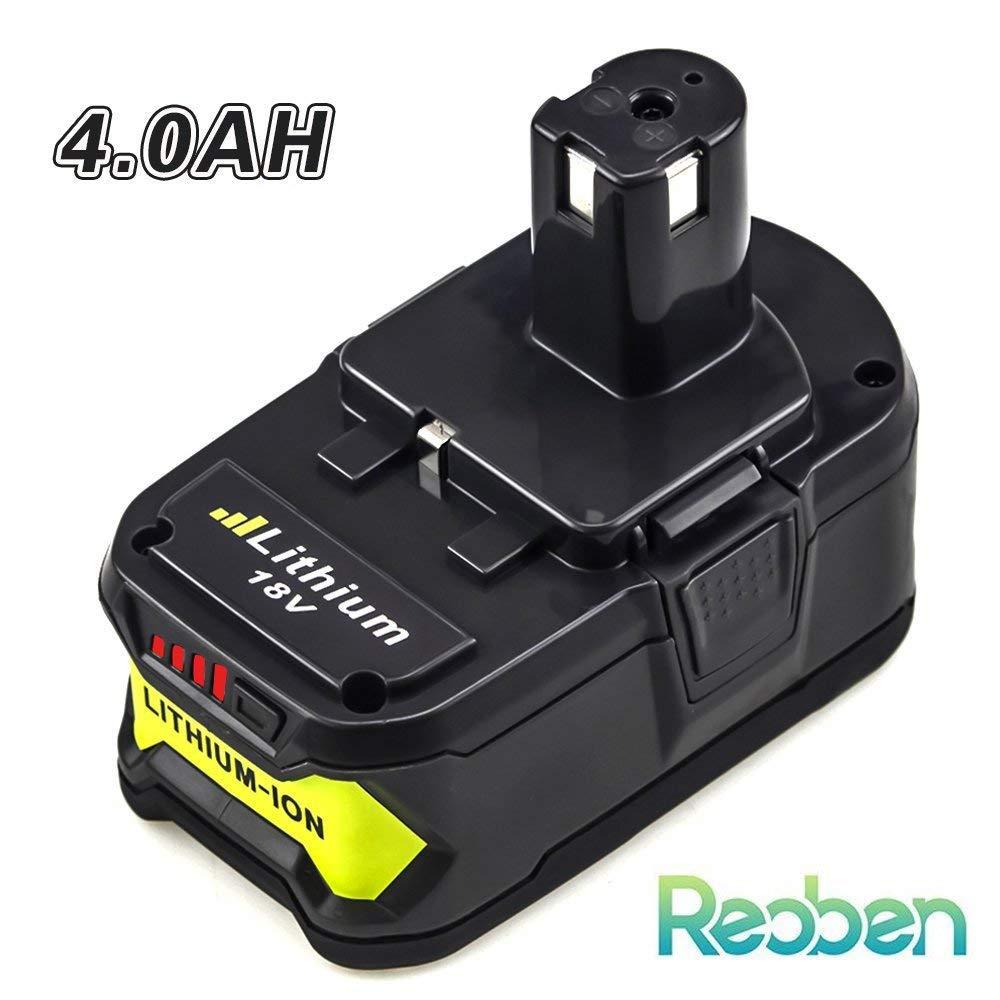 P108 4000mAh 18V Lithium Battery Replace for Ryobi 18-Volt ONE+ P107 P102 P104 P105 P109 Cordless Power Tools