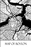 Map of Boston: Boston Map Travel Vacation Journal, Diary, Booklet, Notebook 6 x 9 With 100 Lined Paper Pages (Massachusetts Travel & Tourism Guide Accessories) (Volume 1)