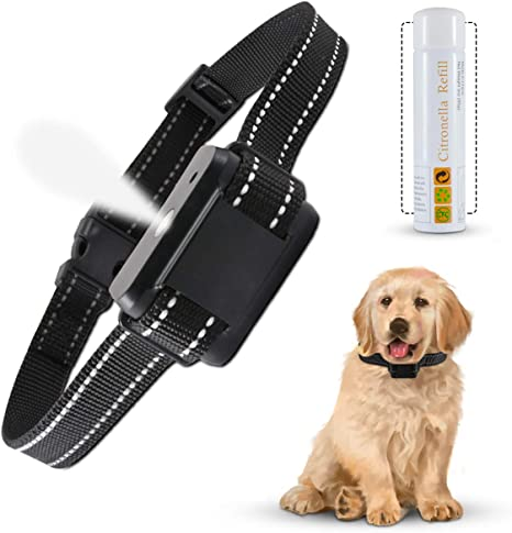Citronella Dog Bark Collar,Rechargeable Waterproof Anti-Bark Device for All Dogs,2 Modes No Electric Shock Humane Safe Citronella Spray Dog Training Collar with Remote Control with Citronella Spray