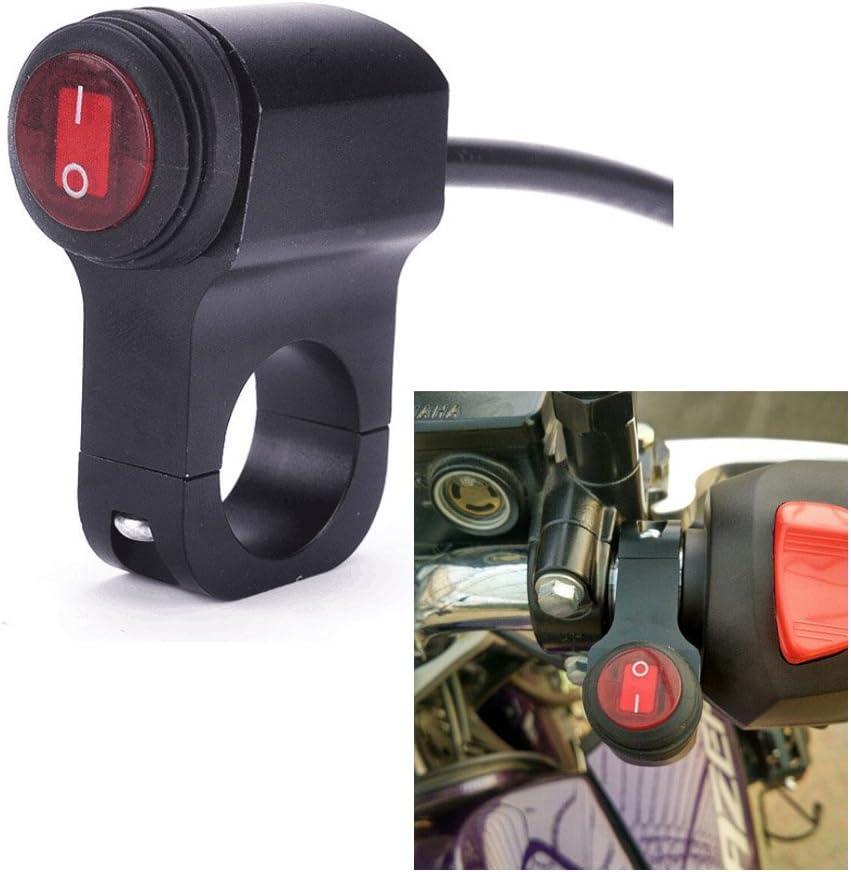 12v Wasserdichte Motorradschalter 7 8 22mm Lenker Scheinwerfer On Off Taste Schalter Auto