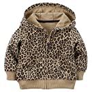 Carter's Baby Girls' French Terry Hoodie (24 Months, Cheeta)