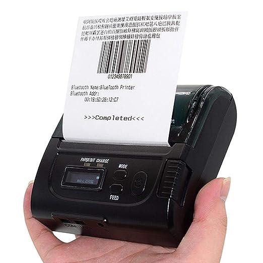 Ksruee Impresora de Recibos térmica Micro portátil Pantalla ...