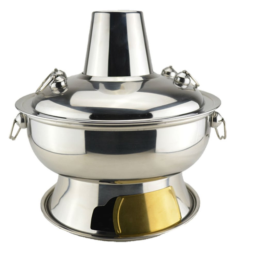 HUKOER 2.8 liter stainless steel hot pot chafing dish Mongolian lamb hot pot Chinese antique cooker picnic Kitchenware
