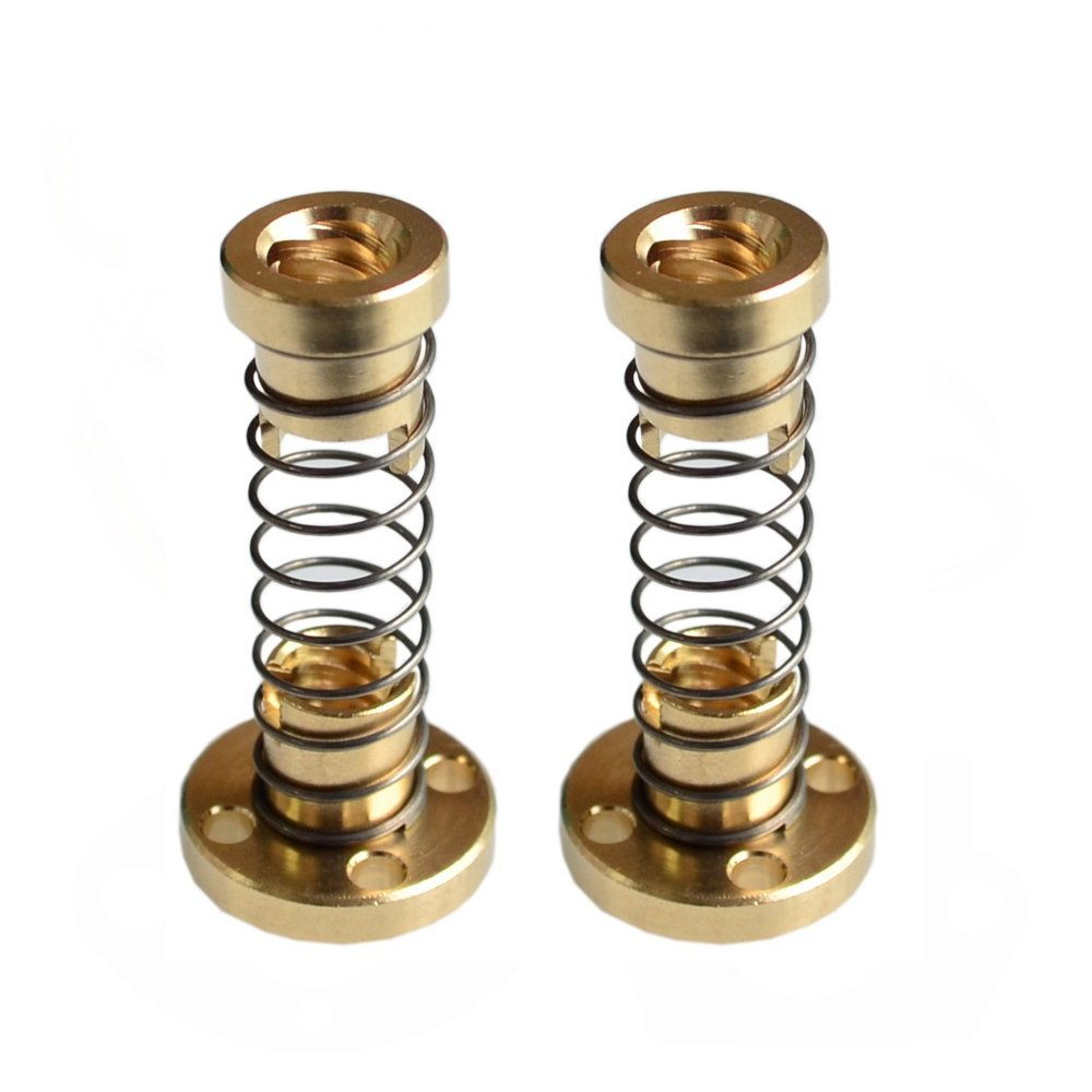 T8 Anti-backlash Spring Loaded Nut For 3D Printer 8mm Trapezoidal Rod Lead Sc G4