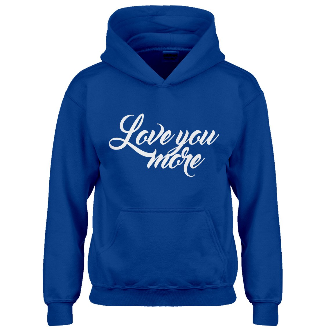 Indica Plateau Kids Hoodie Love You More X-Small Royal Blue Hoodie