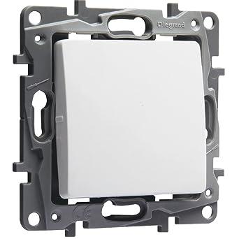 Legrand 664701 Interruptor o Conmutador Niloé, 10Ax- 250 V, Blanco