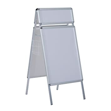 HOMCOM A1 A-Board Display Frame Snap Poster Stands With Head & 2 ...