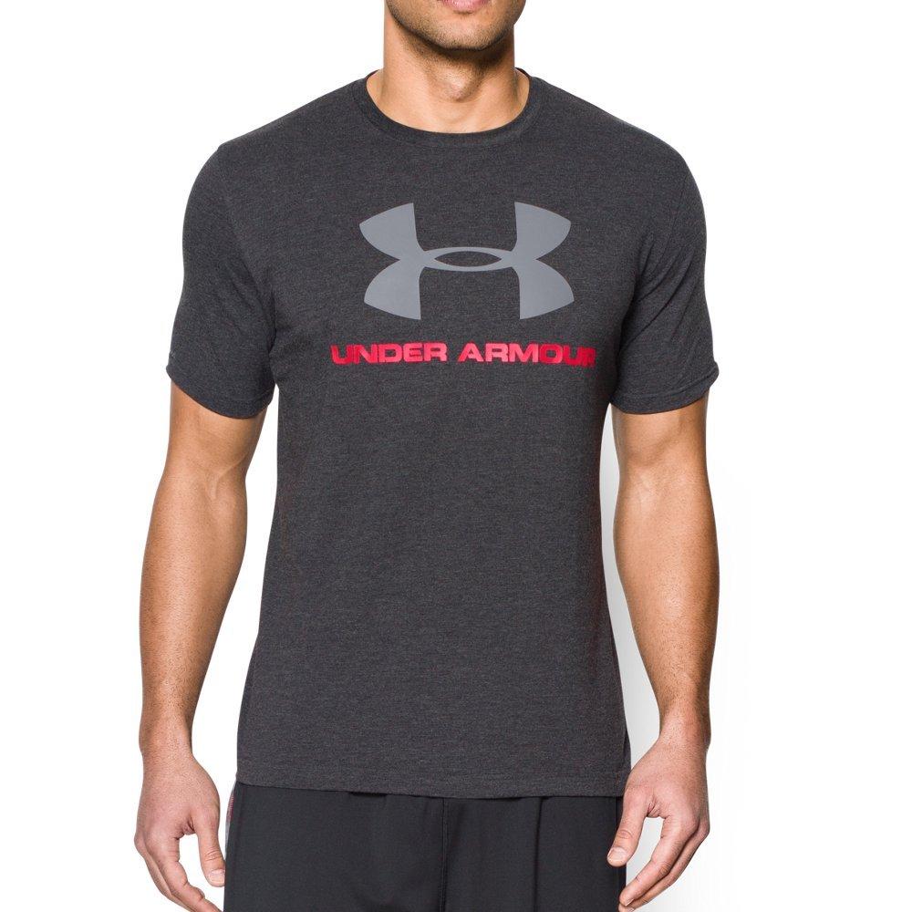 Under Armour Men's Sportstyle Logo T-Shirt, Black (001)/Steel, XX-Large