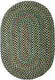 Katherine Multi Indoor/Outdoor Oval Braided Rug, 5 by 8-Feet, Sage