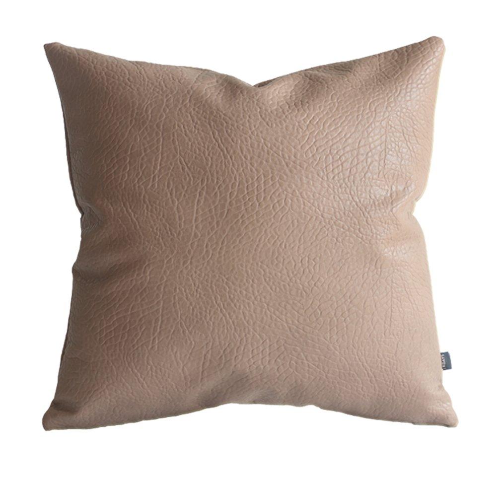 (Kデイズ) Kdays フェイクレザー 象枕カバー ソファクッションカバー ソリッド 20x20 Inches ベージュ KPELEPH-BE20 20x20 Inches ベージュ B072DTSM91