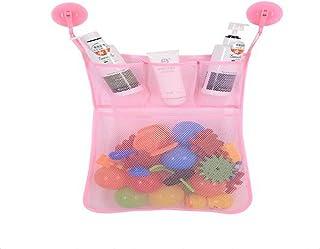 Multi Functional Bath Toy Bag, Sea Pioneer Bath Toys Organizer Bath Bag Storage Bath Toy Holders for Boys & Girls (White)