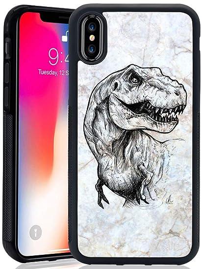 premium selection 6d2c4 823fd Amazon.com: Obesty Hawaii Dinosaur Phone Case for iPhone X 10 Xs ...