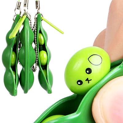 AAGOOD Soja squeezing1 Creative Pack Squeeze Haba Llavero Fi práctica: Juguetes y juegos
