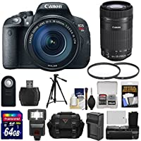 Canon EOS Rebel T5i Digital SLR Camera & EF-S 18-135mm & 55-250mm IS STM Lens with 64GB Card + Battery/Charger + Case + Flash + Grip + Filters Kit Explained Review Image